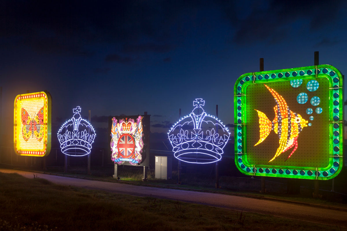 Queen & Crowns Tableaux - Blackpool Illuminations 2014 Photography