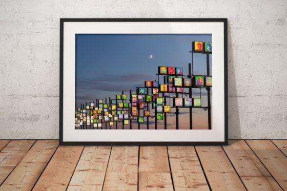 Blackpool Illuminations Photography Print In Black Frame