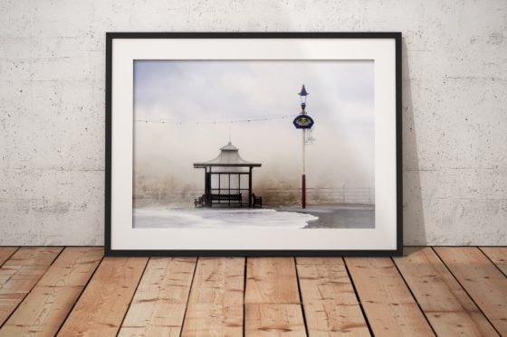 Aloha From Blackpool Photography Print In Black Frame