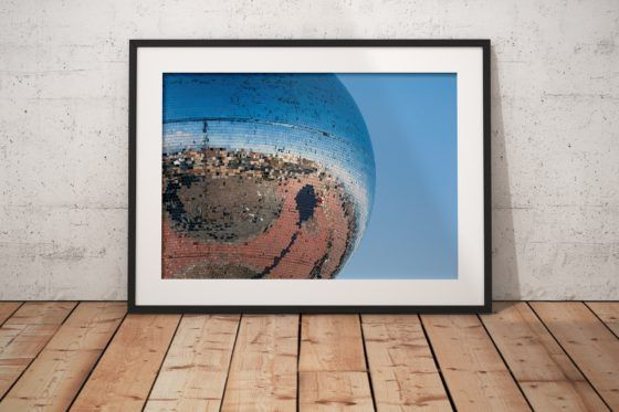 Blackpool Mirrorball Photography Print In Black Frame