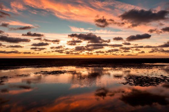 Blackpool Crepuscular Clouds Photography Print