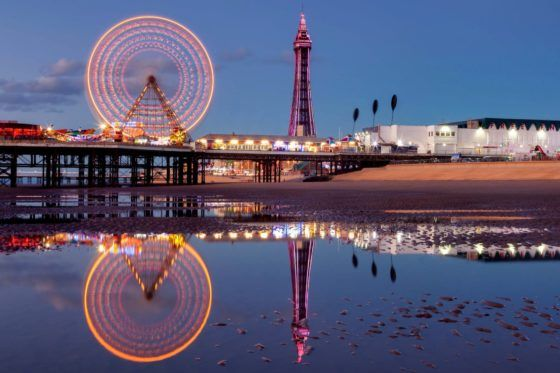 Reflections of Blackpool Photography Print