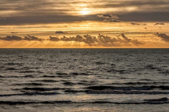Seaside Sun Rays Photography Print