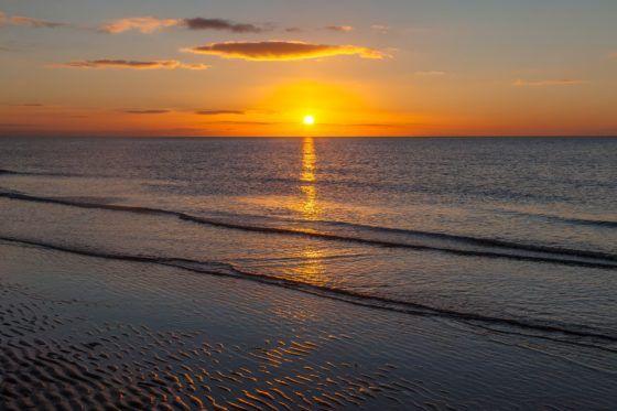 Golden Seaside Sunset Photography Print