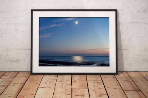 Shimmering Moonlight Photography Print In Black Frame