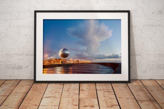Cumulonimbus Cloud Photography Print In Black Frame