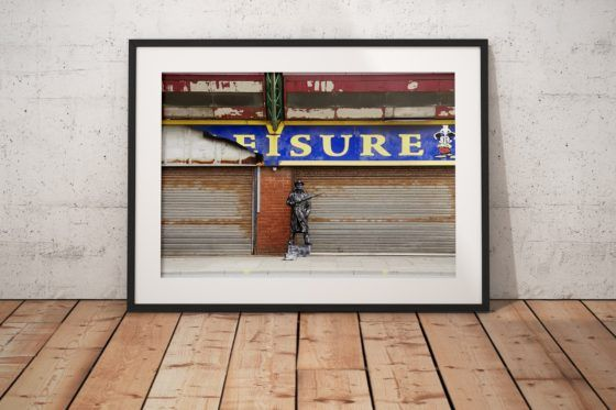 The Living Statue Photography Print In Black Frame