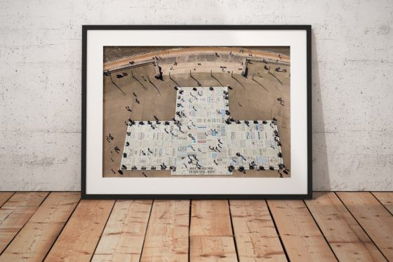 Blackpool Comedy Carpet Photography Print In Black Frame