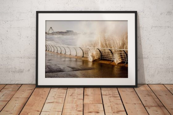 Blackpool Rising Tide Photography Print In Black Frame