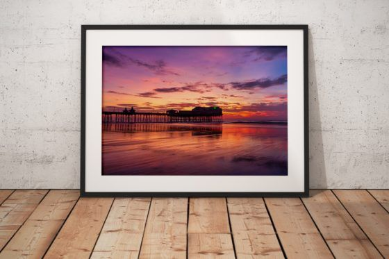 Blackpool North Pier Photography Print In Black Frame