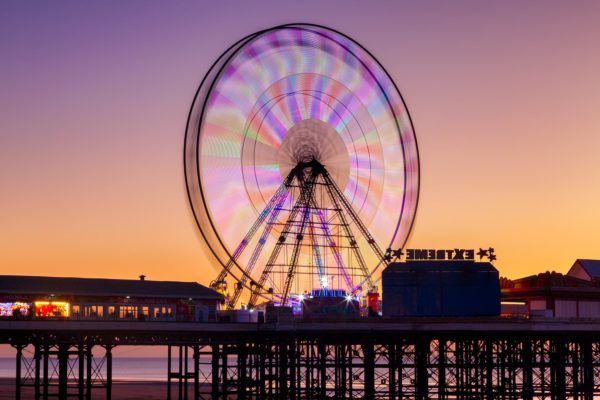Blackpool Central Pier Wheel Photography Print