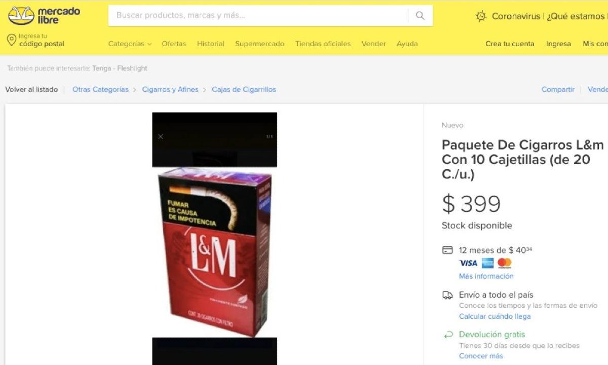 Industria tabacalera en internet.