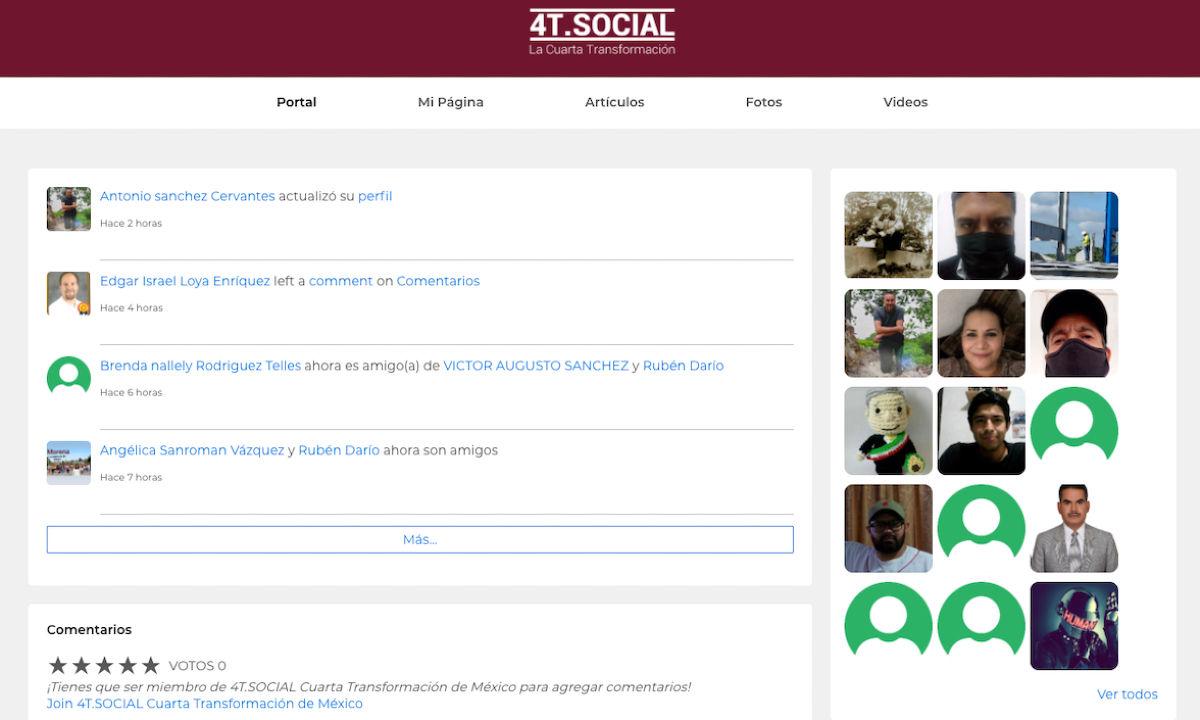 La red social de la 4T.