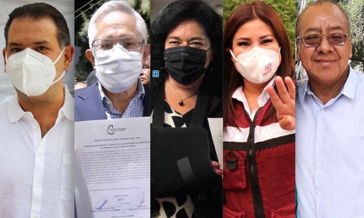 Los candidatos más votados en CDMX.