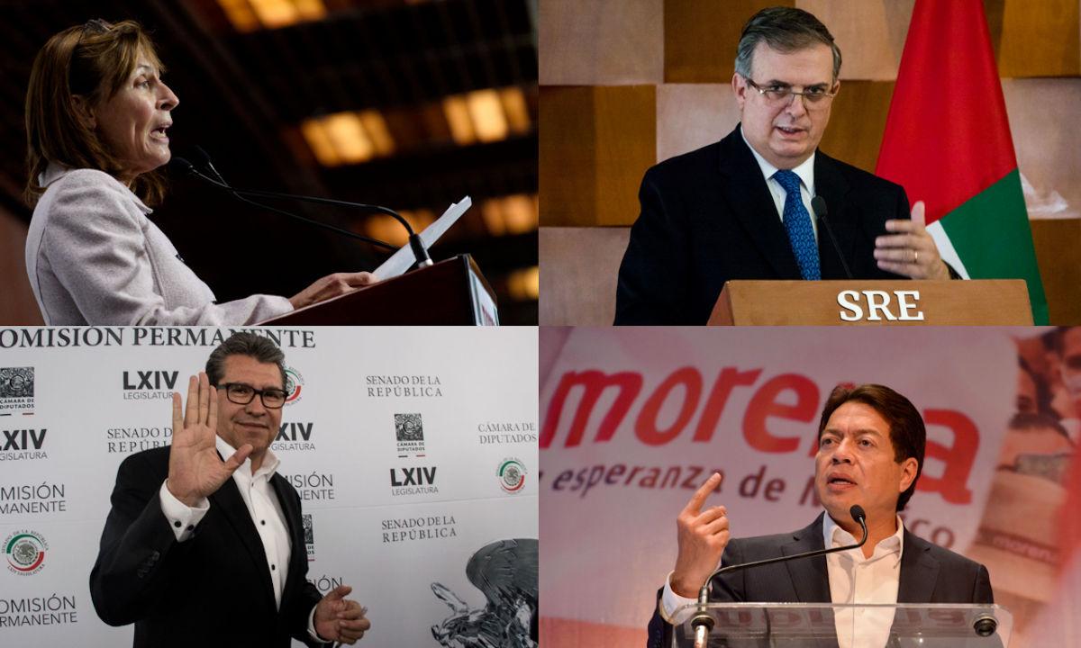 Los presidenciables que no están en registros de Morena.