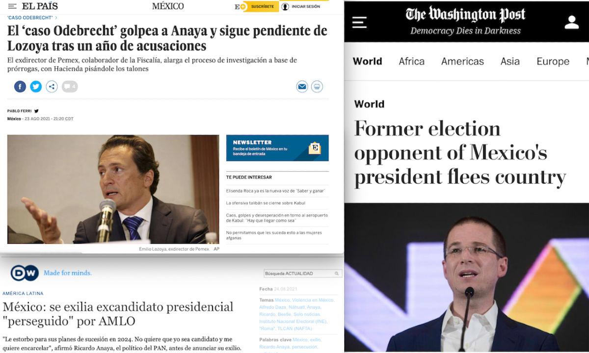 Medios extranjeros retoman caso Anaya