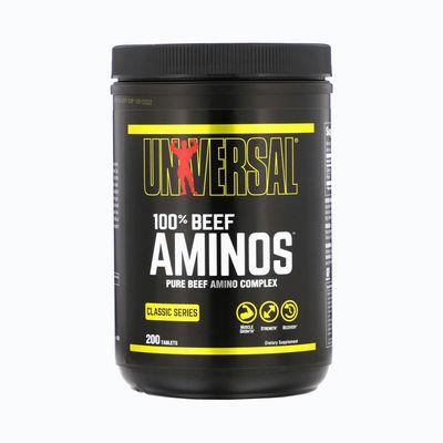 100% beef aminos universal - 200 capsulas