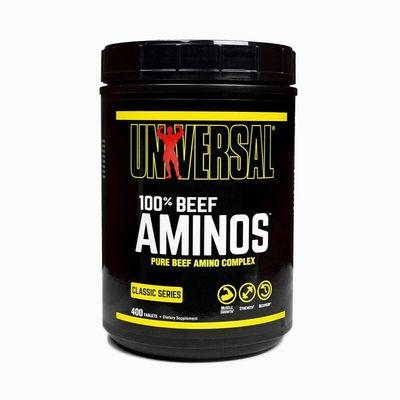 100% beef aminos universal - 400 capsulas