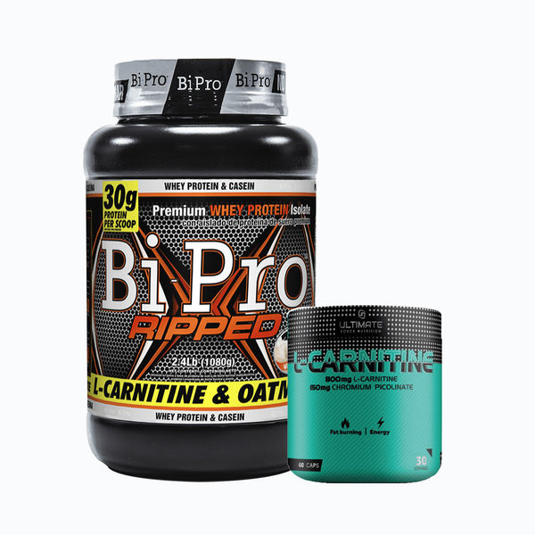 Bipro ripped 2,4lb + l-carnitine 60 caps