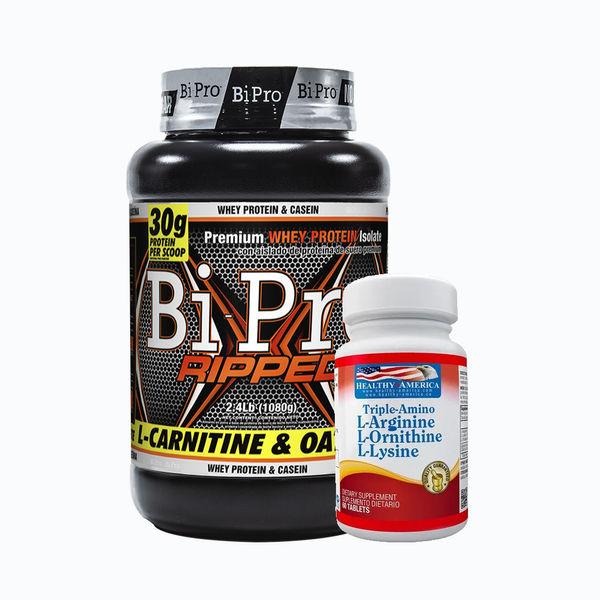 Bipro ripped 2,4lb + triple amino 60 tabletas