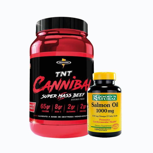 Cannibal 4,8lb+ salmon oil 1000mg 120 caps