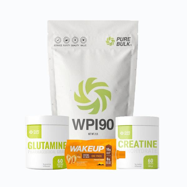 Combo wpi90 2lb + glutamine 300grm + creatine 300grm + obsequio