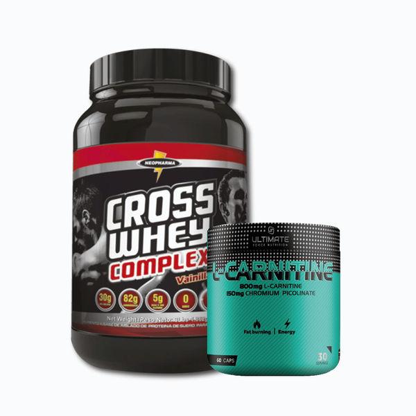 Cross whey complex 3lb + l-carnitine 60 caps