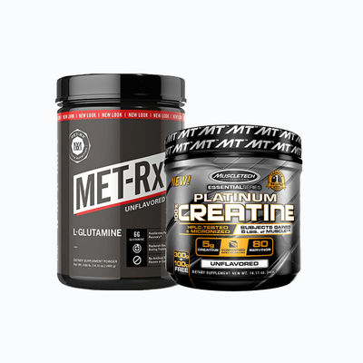 Combo de glutamine + creatine - 1 pack