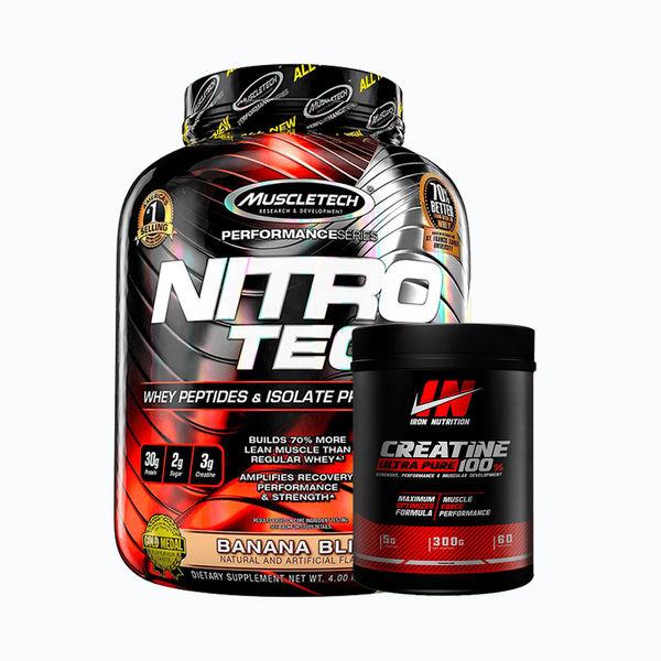 Nitrotech 4lb + creatine ultra pure 300grm
