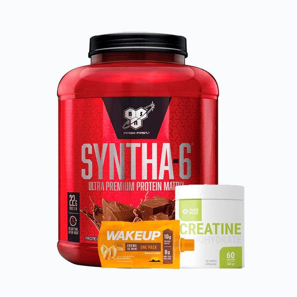 Combo syntha6 5lb + creatine 300grm pure bulk + crema de maní (sobre) gratis