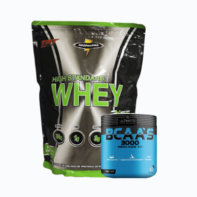 Whey hight standard 6lb + bcaa 3000 200 caps - 1 pack