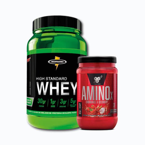 Whey higt standard 3lb + amino x 30 serv