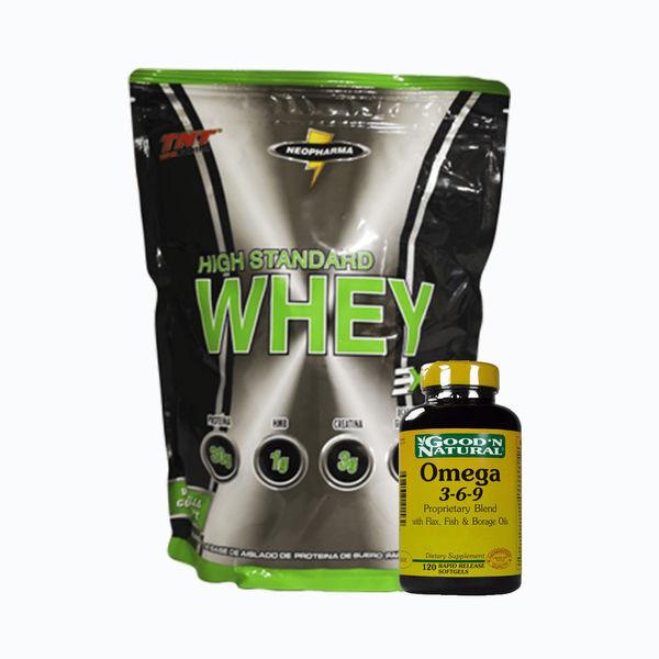 Whey high standard 6lb + omega 3-6-9 120caps
