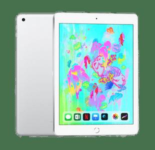 Apple iPad 6th Gen 128GB Silver Wi-Fi + Cellular - Excellent