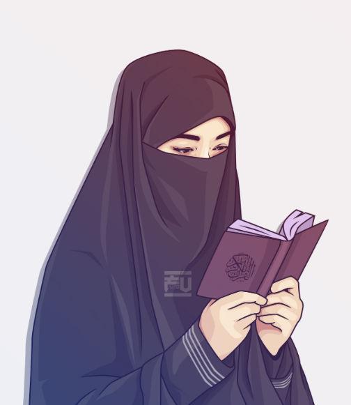 47 300 Gambar Kartun Muslimah Bercadar Cantik Keren Lucu Sedih