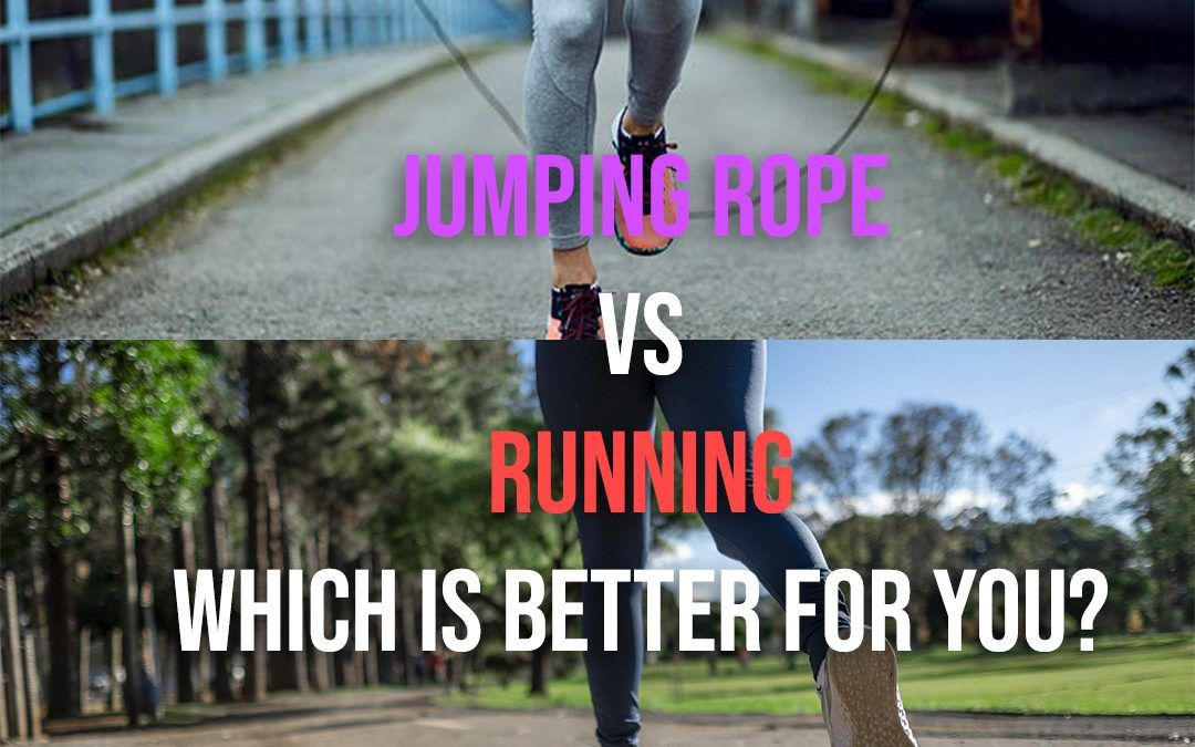 jumping rope and running