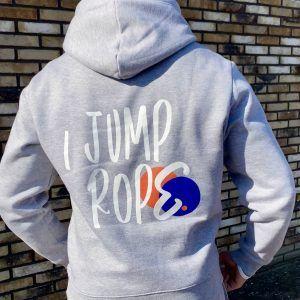 I Jump Rope Hoodie - Gray