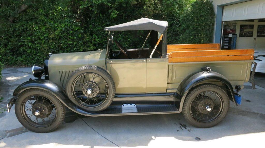 vintage 1928 Ford Model A Roadster Pickup