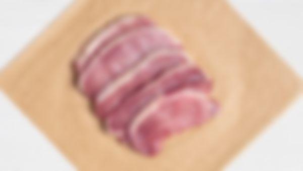 Cerdo: chuletas sin hueso