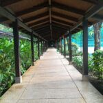 Pathway to sport centre at Club Med Bintan