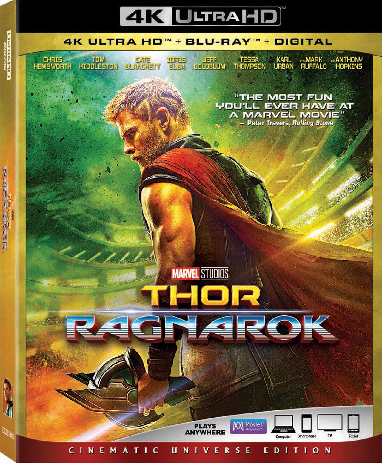 Thor Ragnarok 4K Ultra HD Blu-ray