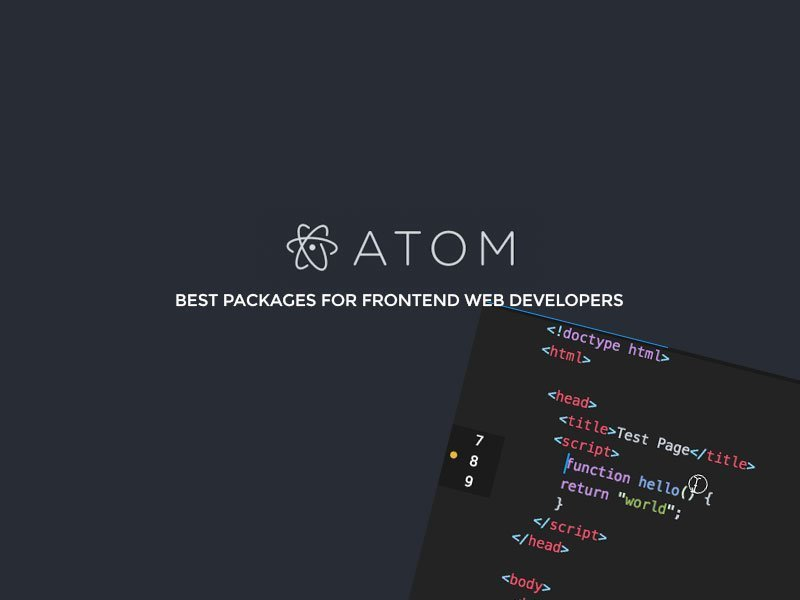 Best Atom Packages For Frontend Web Developers