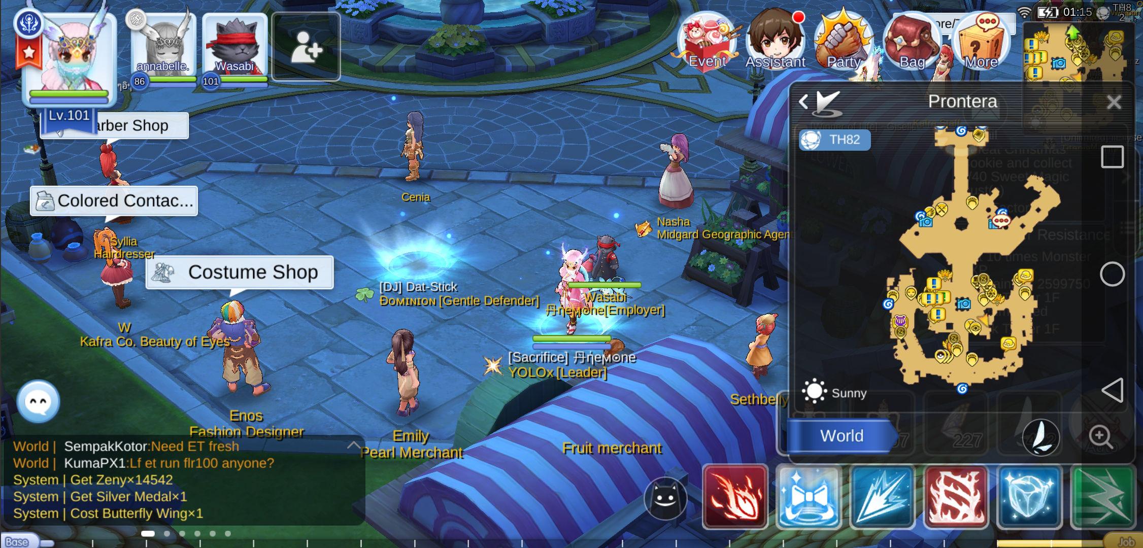 Fruit Merchant Prontera NPC Location Level 99 Aura Ragnarok Mobile