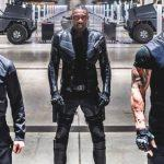 Dwayne Johnson, Jason Statham e Idris Elba em Velozes & Furiosos: Hobbs & Shaw