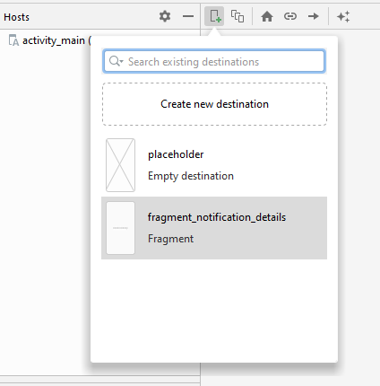 Adding Notification Details in the Navigation Graph