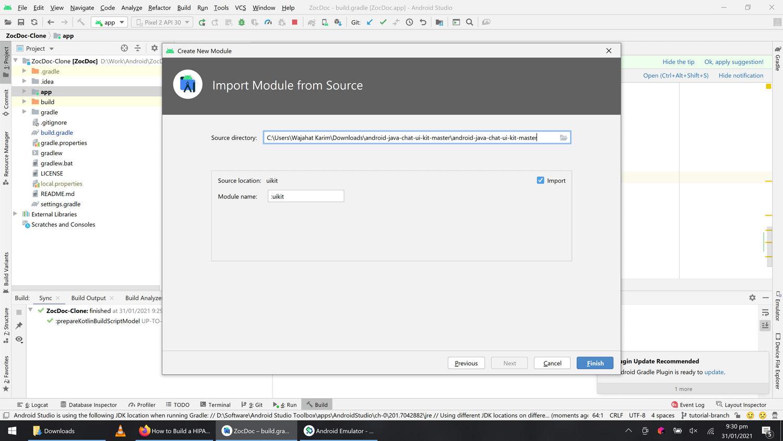 Importing uikit module in app