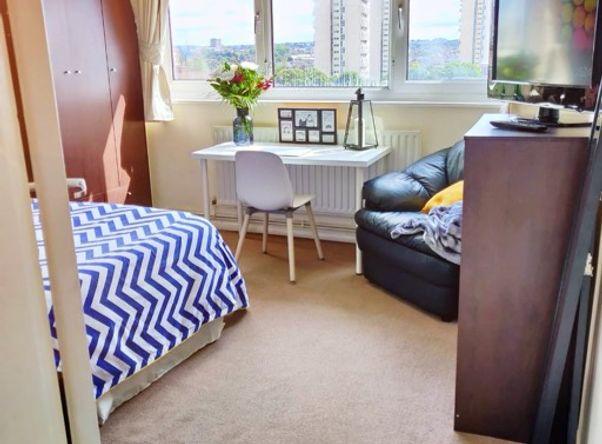 2 Double beds with views of London