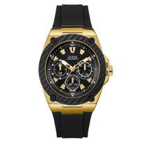 """Vyriškas juodos spalvos """"GUESS"""" laikrodis su silikoniniu dirželiu"""