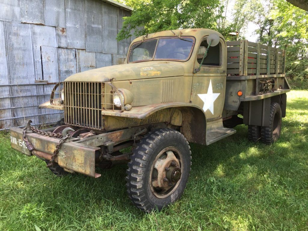true survivor 1942 Chevrolet G506 1.5 ton truck military