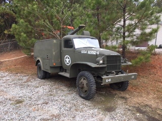 rare 1942 Chevrolet pole truck military